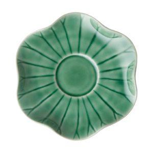 dark green gloss lotus saucer saucers