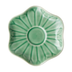 dark green gloss espresso lotus saucer saucers