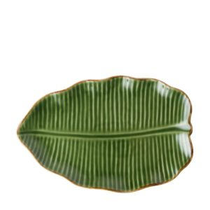 banana leaf grenn gloss with brown rim