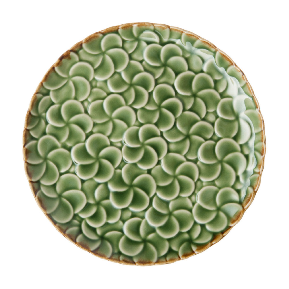 Full Pattern Frangipani Bread & Butter Plate