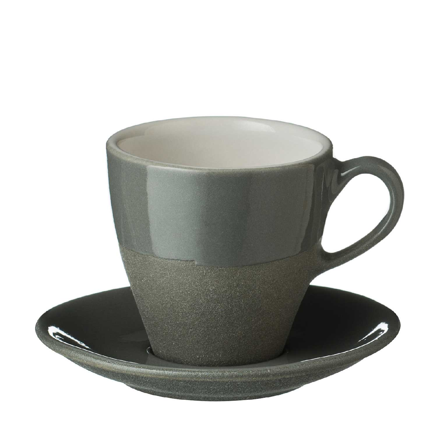 Narrow Espresso Cup & Saucer Set