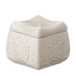 candle candle holder ceramic gift item sokasi stoneware transparent grey