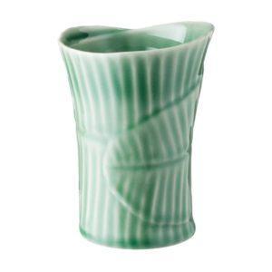 banana leaf ceramic cup dark green gloss drinkware glass mug stoneware water