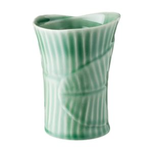 banana leaf ceramic cup dark green gloss drinkware glass mug stoneware water