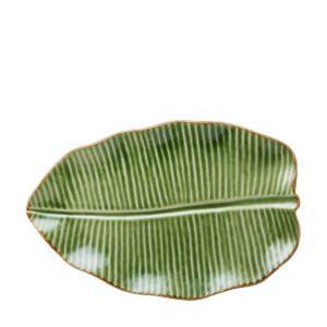 banana leaf grenn gloss with brown rim