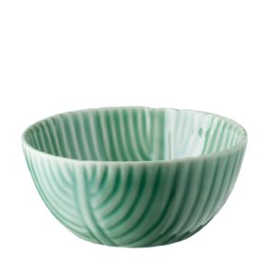 banana leaf bowl dark green gloss