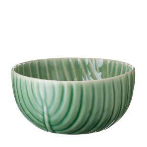 banana leaf bowl dark green gloss