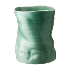 banana leaf dark green gloss vase