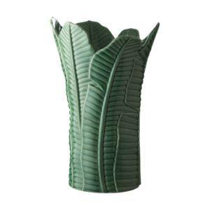 banana leaf ceramic jenggala vase
