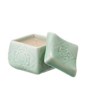 candle holder gift item light jade sokasi stoneware