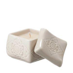 candle holder gift item sokasi stoneware transparent grey