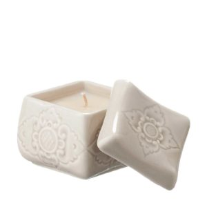 candle candle holder ceramic gift item sokasi stoneware transparent grey
