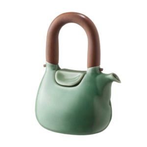 ceramic coffee coffee pot dark green gloss drinkware handbag jugs stoneware tea teapot