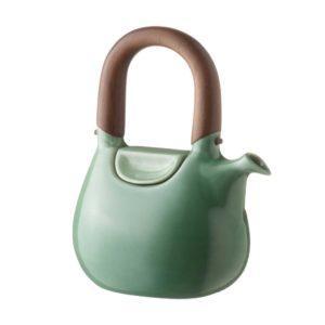 ceramic coffee coffee pot dark green gloss drinkware handbag jugs stoneware tea teapot teaset