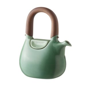 ceramic coffee coffee pot dark green gloss drinkware handbag jugs stoneware tea teapot teaset