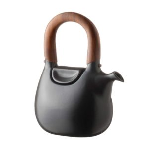 ceramic coffee coffee pot drinkware handbag jugs satin charcoal black stoneware tea teapot teaset