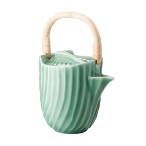 ceramic coffee coffee pot dark green gloss drinkware pincuk stoneware tea teapot teaset