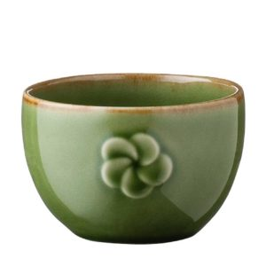 ceramic cup drinkware frangipani glass green gloss with brown rim inacraft award frangipani mug stoneware water