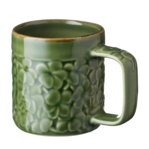 ceramic cup drinkware frangipani green gloss with brown rim inacraft award frangipani mug stoneware water