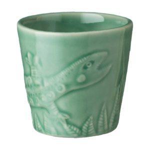 artwork cup dark green gloss