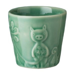 artwork cup dark green gloss tomoko konno