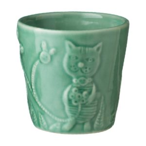 artwork cup dark green gloss tomoko konno