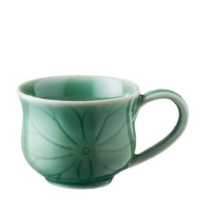 cup cups dark green gloss lotus