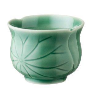 cup cups dark green gloss lotus