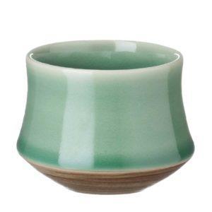 ceramic coffee cup dark green gloss drinkware espresso saucer glass kendi mug saucer small saucer stoneware tea teaset