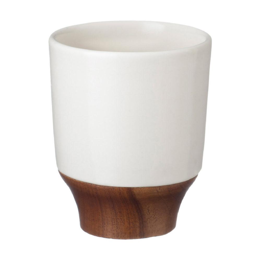 LARGE KENDI CUP WITH WOOD 1