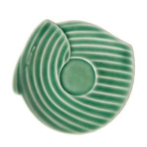 dark green gloss pincuk saucer
