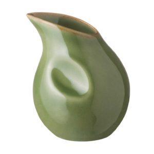ceramic ceramic stoneware coffee creamer drinkware accessories green gloss with brown rim penguin tea teaset