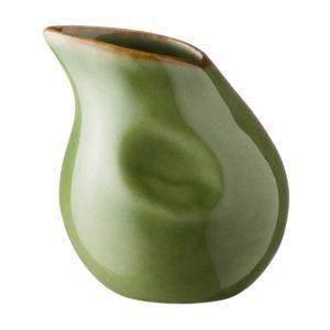 ceramic stoneware coffee creamer drinkware accessories green gloss with brown rim penguin tea teaset