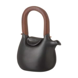 ceramic coffee coffee pot drinkware handbag jugs satin charcoal black stoneware tea teapot teaset