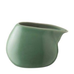 ceramic ceramic stoneware coffee creamer dark green gloss drinkware accessories handbag tea teaset
