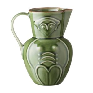 ceramic cili coffee coffee pot drinkware green gloss with brown rim jugs stoneware tea teapot teaset