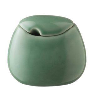 ceramic coffee dark green gloss drinkware accessories handbag stoneware sugar sugar bowl tea teaset