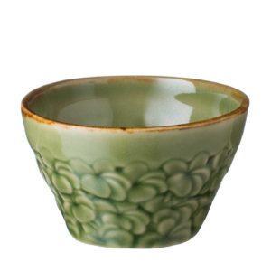 ceramic coffee drinkware accessories frangipani green gloss with brown rim inacraft award frangipani stoneware sugar sugar bowl tea teaset