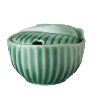 dark green gloss pincuk sugar bowl