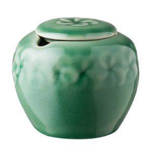 ceramic coffee dark green gloss drinkware accessories frangipani inacraft award frangipani stoneware sugar sugar bowl tea teaset