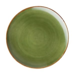 bread and butter plates dinner set green gloss with brown rim plates