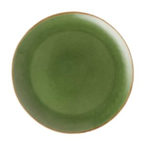 dinner plate dinner sets green gloss with brown rim plates