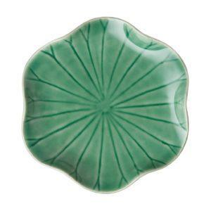 bread & butter plate dark green gloss lotus