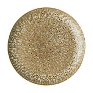 ceramic dining dining set dinner plate hammered indonesian food large plate safari beige stoneware