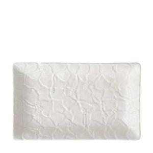 cream kahala hibiscus plate