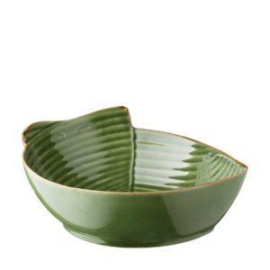 bowl grenn gloss with brown rim pincuk