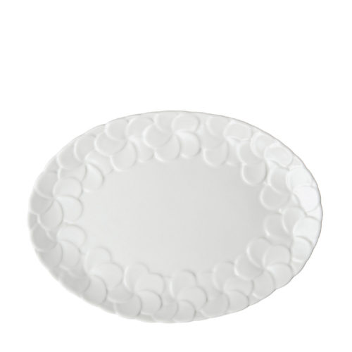 PARTIAL PATTERN FRANGIPANI OVAL PLATE 1