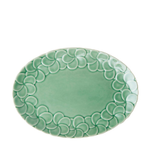 PARTIAL PATTERN FRANGIPANI OVAL PLATE 2
