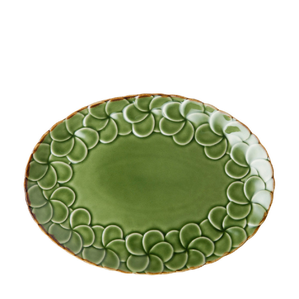 PARTIAL PATTERN FRANGIPANI OVAL PLATE 5