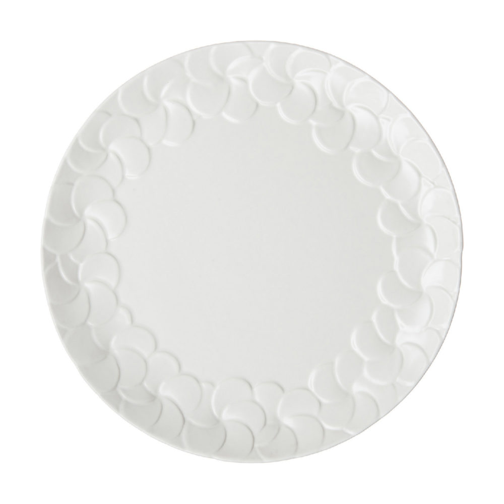 PARTIAL PATTERN FRANGIPANI DINNER PLATE 1